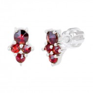 Earings Bohemian Garnet